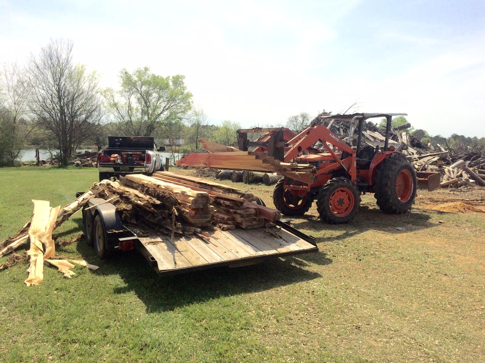 Sawing Cedar Lumber