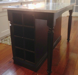 black lacquer island wine racks