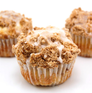 pumpkin coffee cake muffins + honey butter