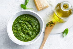 pistachio + parsley pesto