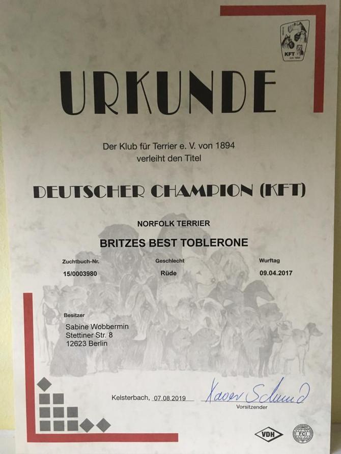 Und auch Hermann ist jetzt Champion!