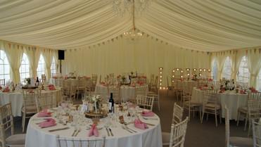 wedding draped ceiling