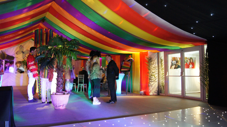 themed marquee dressing