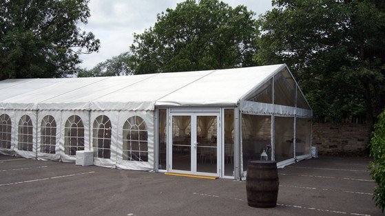 large wedding marquee