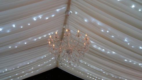 fairy light marquee ceiling