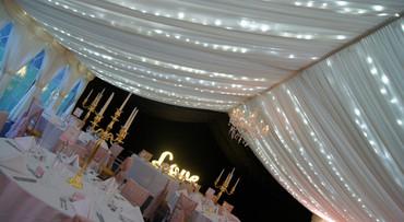 Wedding lit canopy