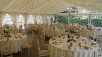 marquee wedding tables and marquee