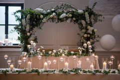 Top Table Set Up - Photography by Lucy Noble