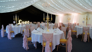 full wedding decor and marquee
