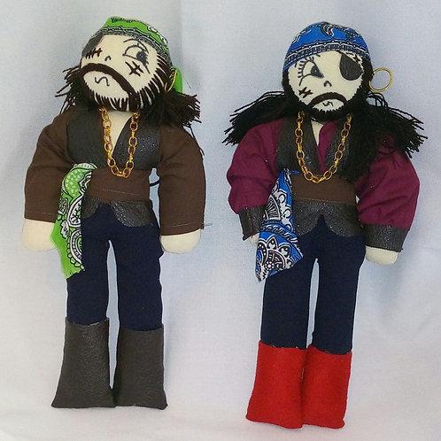 Muñecos piratas hechos a mano