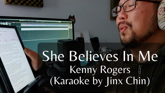 Cheesy Karaoke Time! - She Believes In Me (Cover by Jinx Chin)