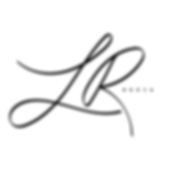 Black LR Media Logo with Tansparent Back