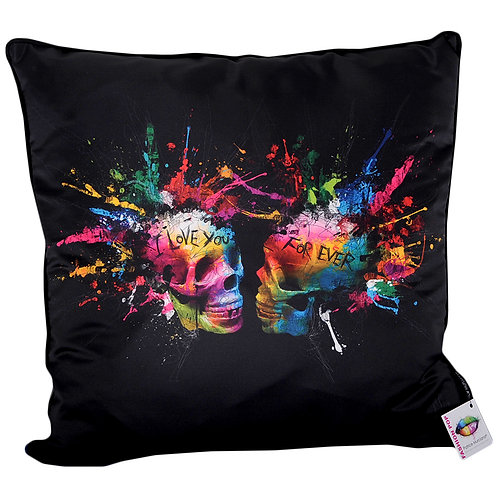 "Patrice Murciano Eternal Lovers ""Coloured Skulls"" Feather Filled Cushion"