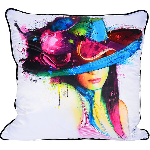Patrice Murciano La Jeune Fille Au Chapeau Feather Filled Cushion
