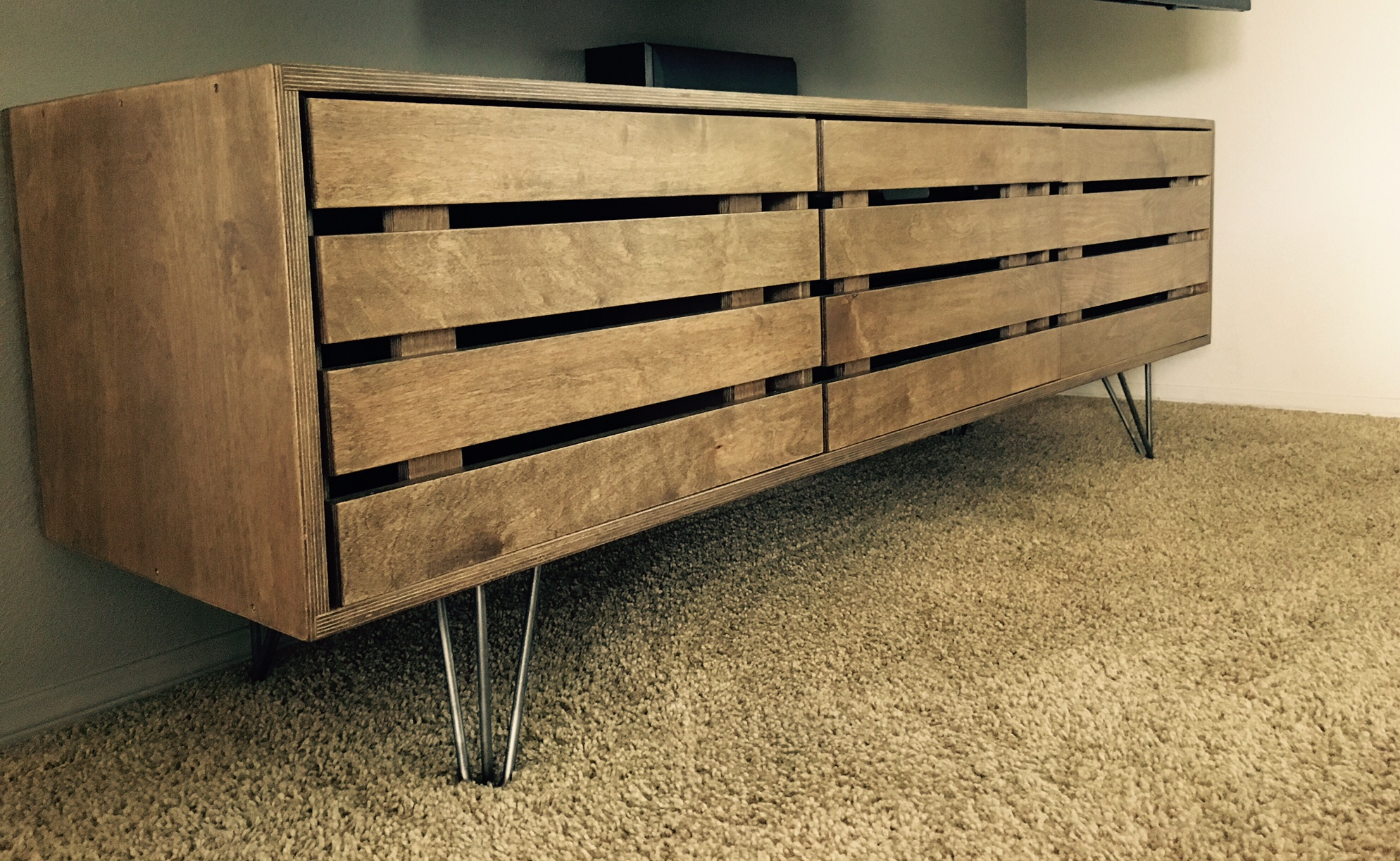 Custom Media Console with Espresso