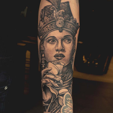 Customized Portrait Tattoo for Beginners