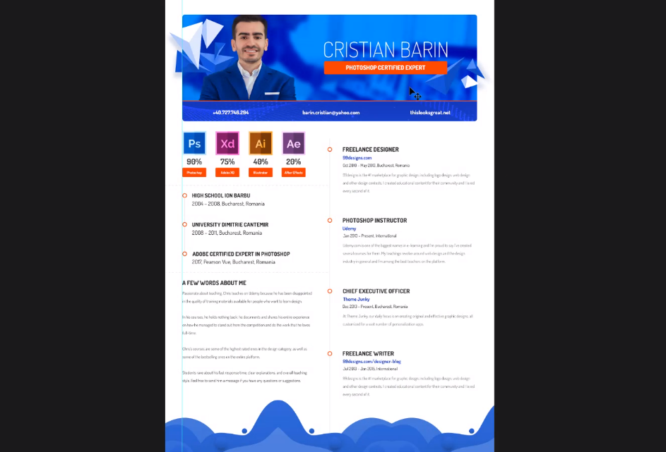 Creating a Colorful CV