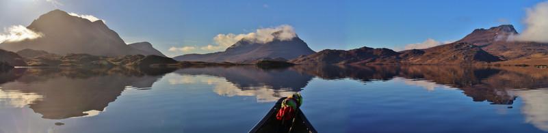 Cul Mor, Cul Beag and Stac Polaidh, from Loch Sionasgaig