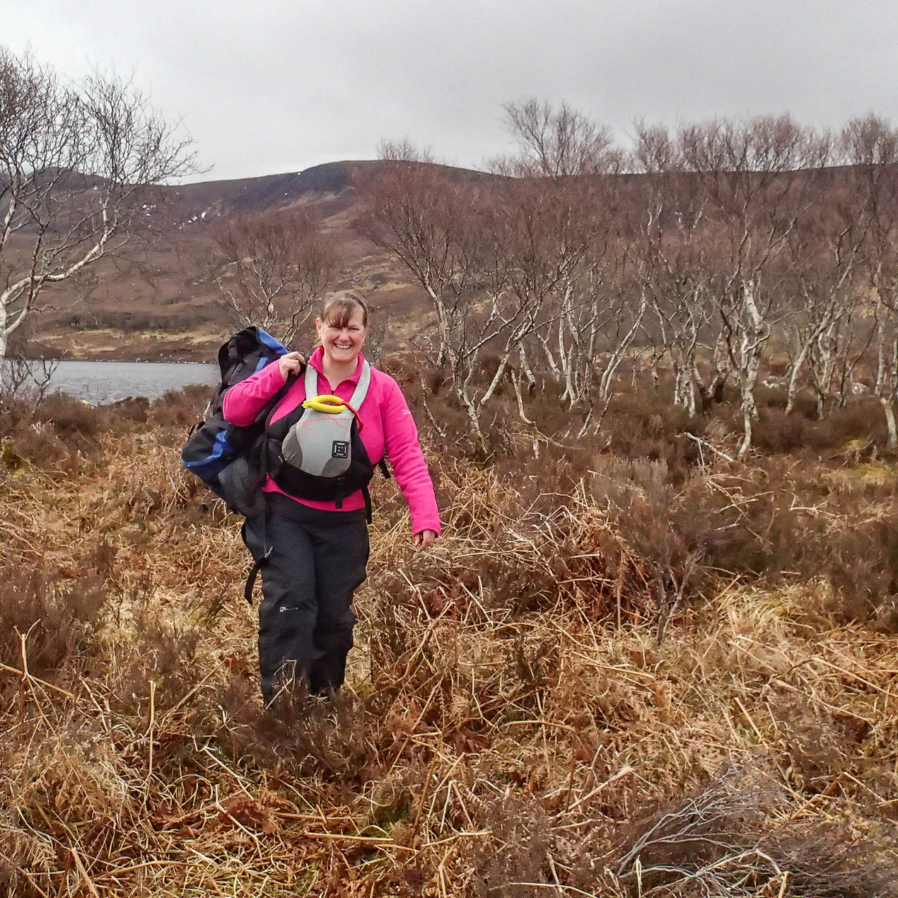Lynne on the second portage