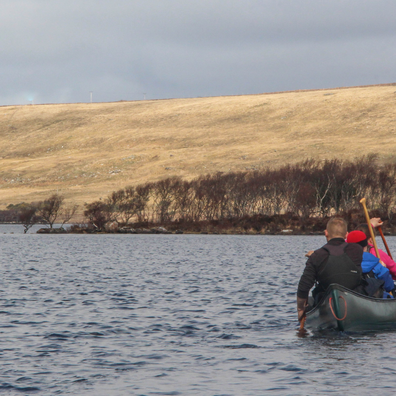 Approaching the horizon line that marks the second portage