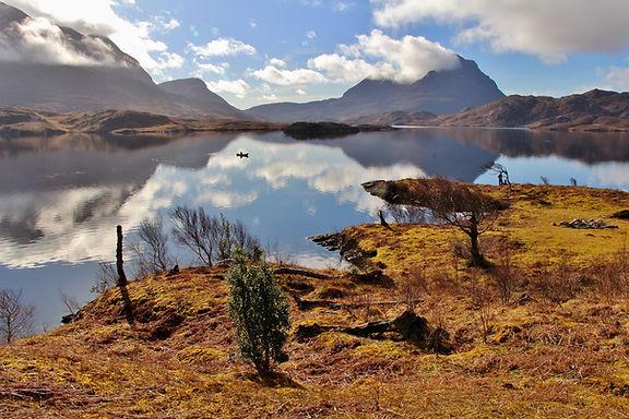 Canoeing Loch Sionasgaig, Scotland