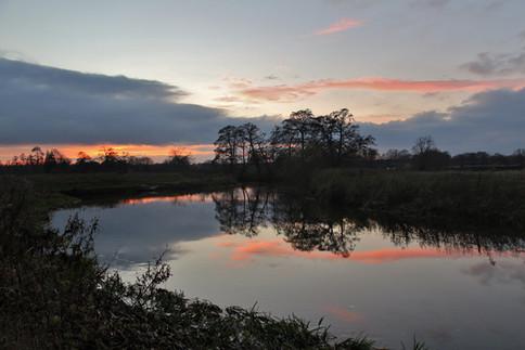 Sunset below Triggs Lock