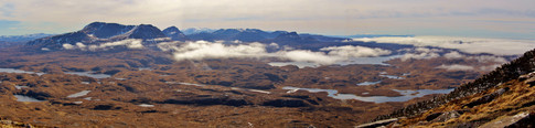 Inverpolly Panorama from Suilven