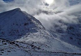 Mullach Coire Mhic Fhearchair, Fisherfield, winter, walking