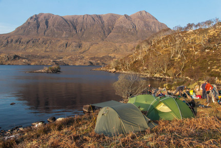 Wild camp overlooking Cul Mor