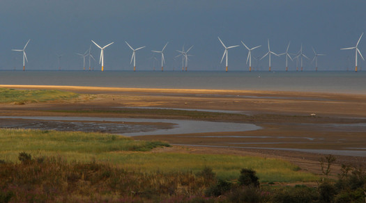 Windfarm from Gibraltar Point, Lincolnshire