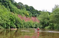 canoeing, river wye, brobury scar