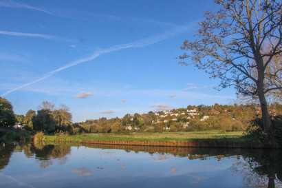 Guildford from the water meadows