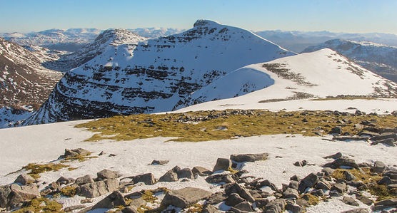 Beinn Damh summit in winter