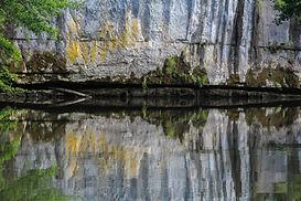River Cele, France, reflections