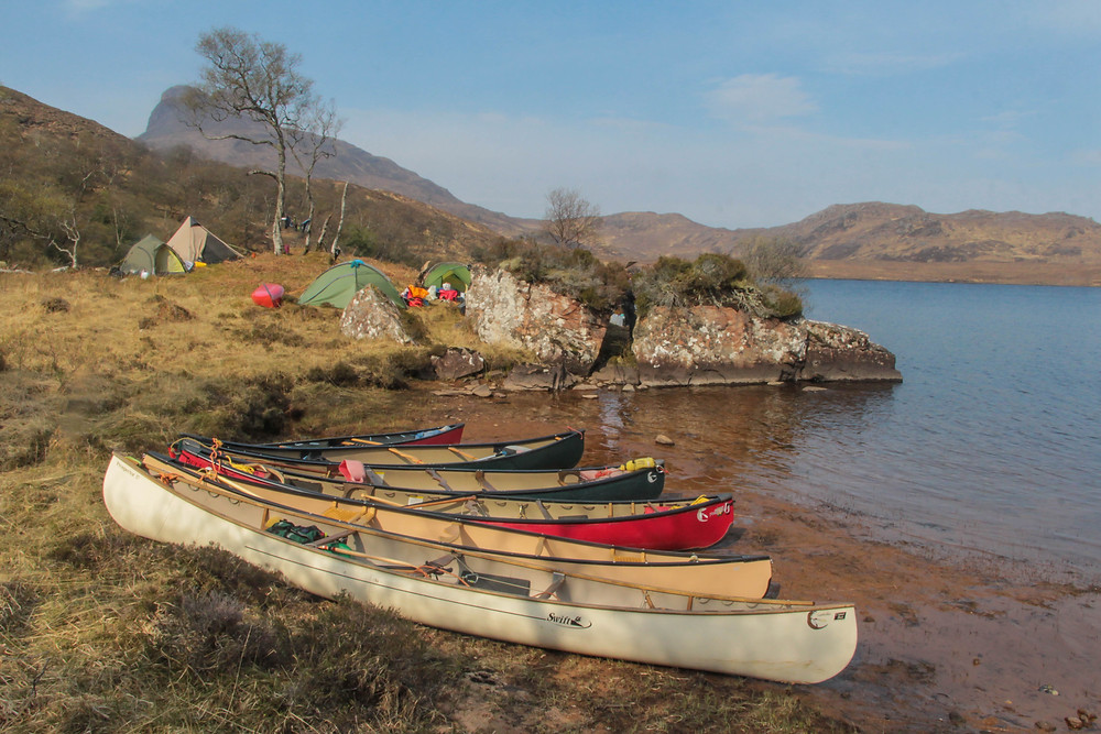 Perfect wild camp on the loch shore