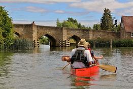 Canoeing, River Thames, Newbridge
