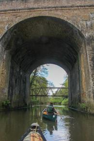 Railway bridge below Brooklands