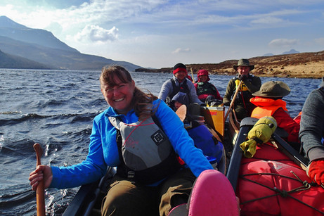 Rafted up to sail down Loch Veyatie