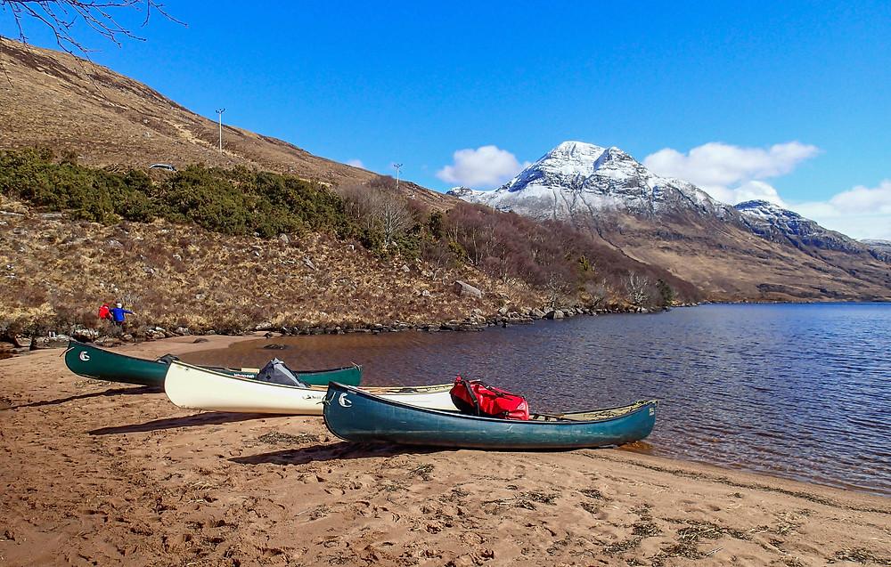 The beach on Loch Lurgainn below Cul Beag