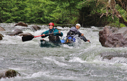First major rapid, Gorges du Tarn