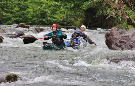First major rapid, Gorges du Tarn