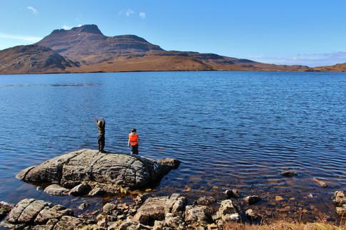 Sun worshiping, Eilean Mor, Loch Sionasgaig