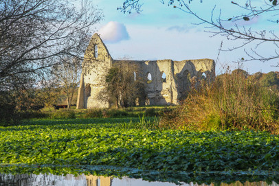 Newark Priory from the towpath