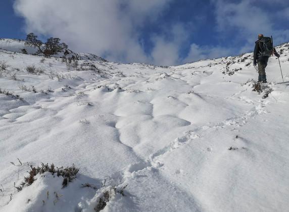 Nearly at the ridge
