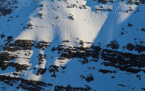 Snow runnels, Beinn Damh