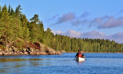 Glaskogen canoeing
