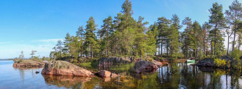 Islands on Stora Gla, Glaskogen, where we camped