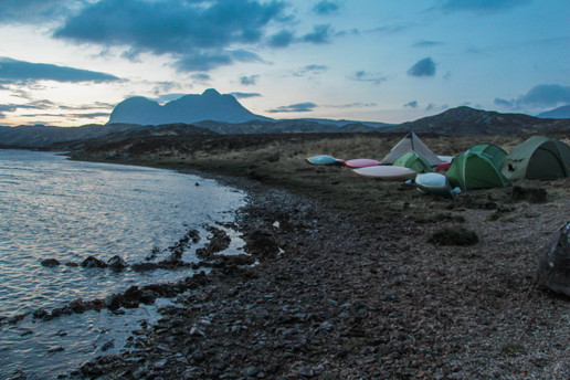 On the shores of Loch Veyatie with Suilven beyond