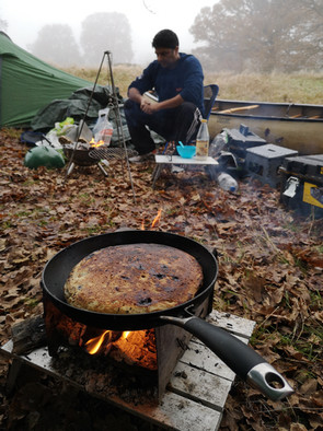 Bannock, cooked slowly for breakfast