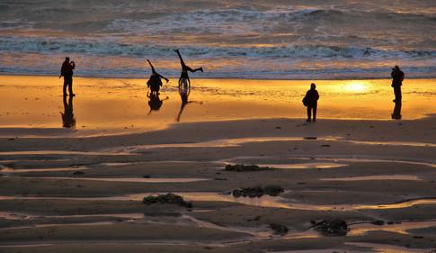 Cartwheels at sunset